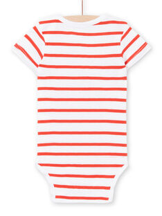 Body recém-nascido menino de mangas curtas estampado polvo LEGABODPIE / 21SH1426BDL000