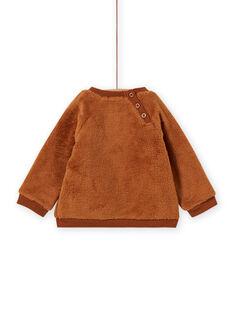 Sweat castanho padrão urso bebé menino MUFUNSWE / 21WG10M1SWEI820