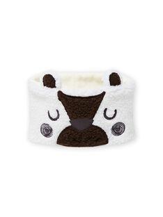 Gola cru com padrão de urso em sherpa bebé menino MYUGROSNO / 21WI1061SNO001