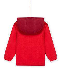 Sweat-shirt com capuz vermelho e padrão de dinossauro menino MOFUNSWE / 21W902M1SWEF505