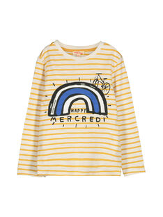 T-shirt mangas compridas menino FOLITEE3 / 19S90223TML001