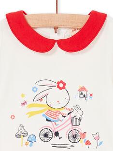 Body cru e vermelho bebé menina LIHABOD1 / 21SG09X2BOD001