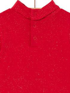 Camisola interior vermelho rubi bebé menina KIJOSOUP3 / 20WG0945SPLF529