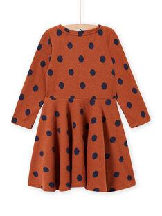 Vestido de malha caramelo às bolas menina MACOMROB2 / 21W901L3ROB420