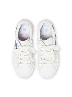 Sapatilhas brancas e azuis menino LGBASLUCAS / 21KK3634D3F000
