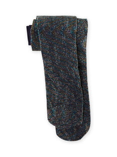 Collants canelados azul-noite lurex menina MYAJOSCOL5 / 21WI011BCOLC205