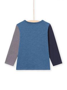 T-shirt de mangas compridas azul padrões dinossauros menino MOPATEE2 / 21W902H2TML219
