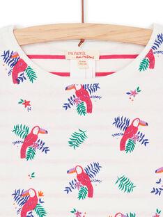 T-shirt reversível branca e azul LANAUTEE1 / 21S901P1TML001
