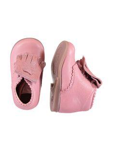 Botas couro rosa com franjas amovível bebé menina GBFBOTIPATP / 19WK37I1D0F030