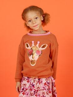 Sweat padrão girafa com lantejoulas decorativas menina MACOMSWEA / 21W901L1SWE420