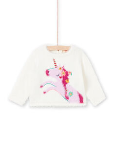 Camisola cru e rosa bebé menina MITUPUL / 21WG09K1PUL001