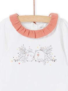 Body branco e rosa nascimento menina LOU1BOD4 / 21SF03H2BOD000