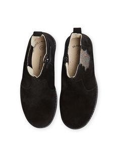 Boots preto em couro com detalhes brilhantes menina MABOOTMEL / 21XK3576D0D090