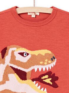T-shirt laranja e amarelo menino MOPATEE1 / 21W902H3TMLE415