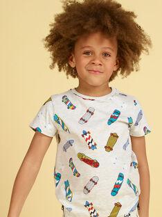 T-shirt cinzento mesclado e azul - Criança menino LOPOETI1 / 21S902Y2TMCJ920