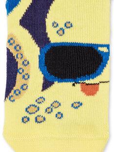 Meias azuis e amarelas criança menino LYONAUCHO2 / 21SI02P2SOQ070