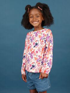 T-shirt de mangas compridas com padrão pássaro colorido menina MAPATEE / 21W901H1TMLD319