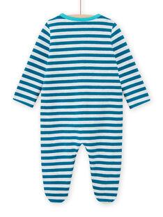 Babygro azul às riscas com padrão de crocodilos bebé menino MEGAGRECRO / 21WH1482GRE715