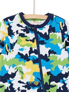 Pijama criança menino em moletão estampado camuflagem LEGOCOMBI / 21SH1211D4FJ920