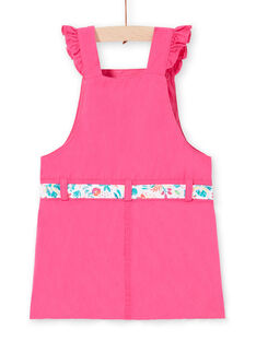 Vestido jardineiras rosa bebé menina LIBONROB1 / 21SG09W2ROB302
