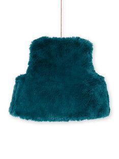 Casaco sem mangas azul pato de pelo sintético bebé menina MITUCAR2 / 21WG09K2CAR714