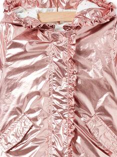 Parca rosa-acobreado bebé menina LIFANPARK / 21SG09R1PAR030