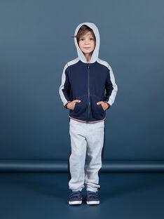 Calças de fato de treino cinzento e azul-marinho menino MOJOJOB3 / 21W90211JGBJ922