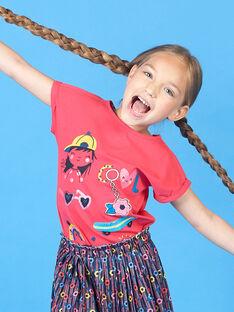 T-shirt de mangas curtas vermelho menina LAHATI1 / 21S901X1TMCF506