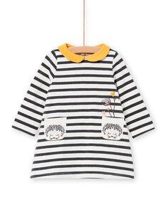 Vestido bebé menina às riscas Lurex® LIPOEROB3 / 21SG09Y1ROBJ916