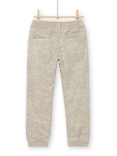 Calças cinzentas com estampado animais selvagens em algodão LOBLEPAN1 / 21S902J1PAN811