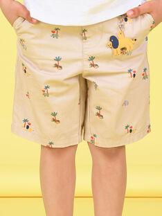 Bermudas criança menino com estampado LOJAUBER2 / 21S902O1BERA014