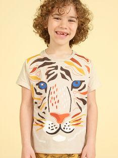 T-shirt toupeira com padrão leão criança menino LOTERTI4 / 21S902V2TMC007