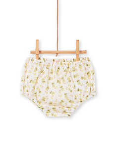 Vestido e bloomer cru e verde com estampado ananás bebé menina LIBALROB3 / 21SG09O1ROB000