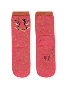 Meias rosa e dourado leopardo menina MYAKACHO / 21WI01I1SOQD305