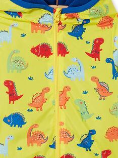 Sobretudo com capuz amarelo bebé menino LUGROBLOU / 21SG10R1MAN102