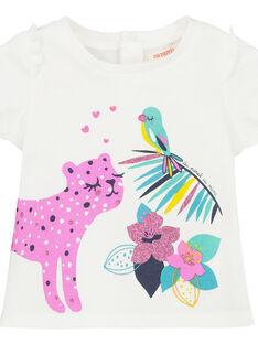 T-shirt mangas curtas bebé menina FITUTI1 / 19SG09F1TMCA001