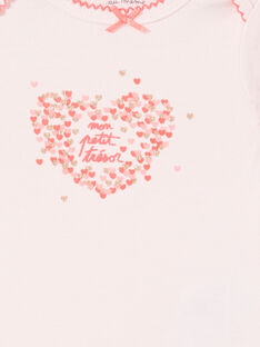 Body recém-nascido menina de mangas curtas estampado coração iridescente LEFIBODTRE / 21SH1324BDLD322