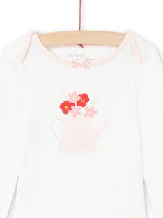 Body cru e rosa bebé menina MEFIBODJAR / 21WH13B3BDL001
