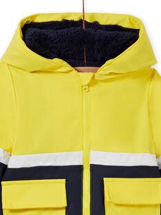Impermeável amarelo padrão tigre bebé menino MUGROIMP / 21WG1051IMP102