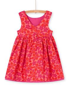 Vestido reversível vermelho e rosa estampado florido LAVIROB2 / 21S901U3ROB419