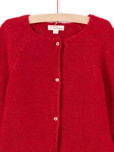 Casaco de mangas compridas liso vermelho menina MAJOCAR5 / 21W90121CAR511
