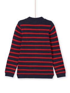Camisola vermelho às riscas menino MOJOPUL3 / 21W90212PUL505