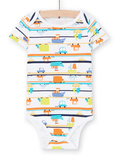 Body recém-nascido menino com mangas curtas estampado carros LEGABODVOI / 21SH1425BDL000