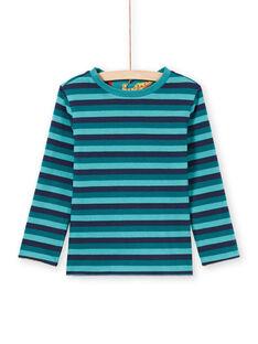 T-shirt de mangas compridas reversível azul menino MOTUTEE3 / 21W902K1TMLC239