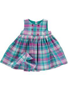 Baby girls' checked dress CIDOUROB3 / 18SG09J3ROB099
