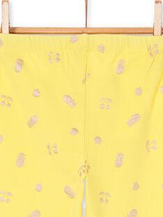 Leggings amarelas criança menina LYAJAULEG1 / 21SI01O1CAL116