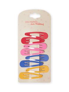 Pack de 8 ganchos lisos a condizer menina MYAJOCLIC3 / 21WI01S3BRTD325