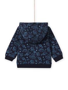 Casaco azul noite com estampado espaço bebé menino MUPLAGIL / 21WG10O1GILC243