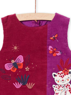 Vestido sem mangas violeta bebé menina MIPAROB3 / 21WG09H4ROB712