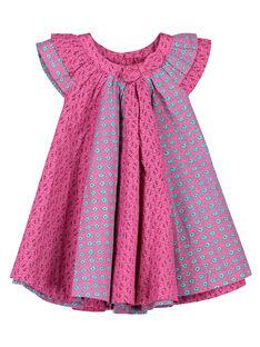 Vestido em popeline bebé menina FITUROB4 / 19SG09F4ROB712